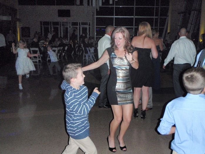 Jen, dancing with Shaun at Rachel's Wedding 2014